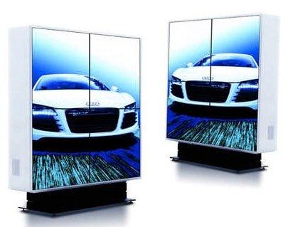STELE Glassäulen mit Monitor