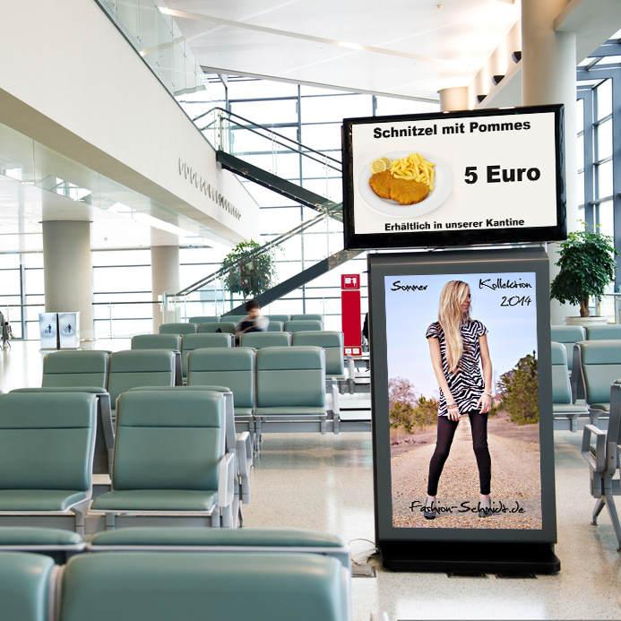 Digitale Werbeplakate